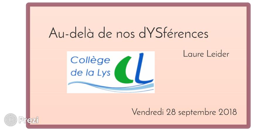 Conférence: Au-delà de nos DYSférences